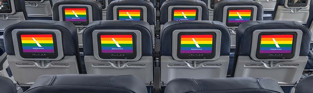 Seatback screens support LGBTQ community